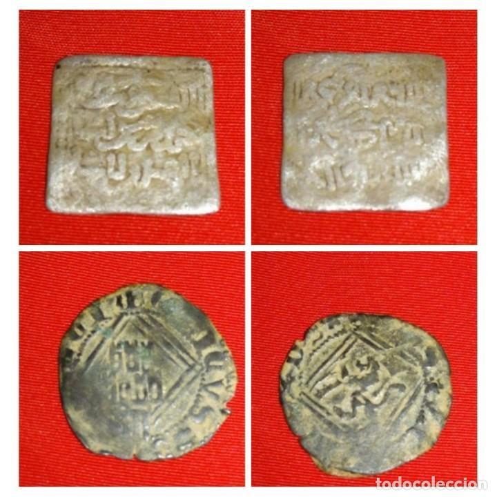 LOTE RECONQUISTA. DIRHAM ALMOHADE (PLATA) + BLANCA ENRIQUE IV (Numismática - Hispania Antigua - Hispano Árabes)
