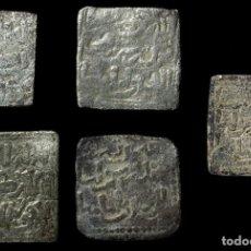 Monedas hispano árabes: LOTE DE 5 MONEDAS, DIRHAM ALMOHADE ANONIMO DE PLATA SIN CECA.. Lote 219123498