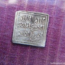 Monedas hispano árabes: MONEDA DIRHAM CUADRADO DE PLATA HISPANO ARABE A IDENTIFICAR PESO 1,5 GRAMOS. Lote 262481895