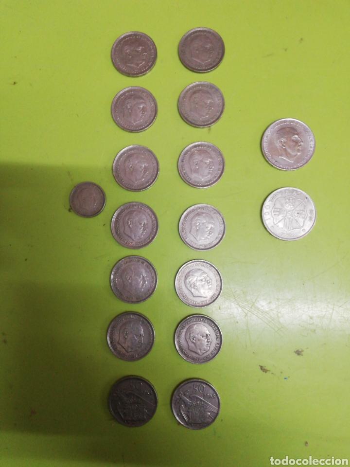 17 MONEDAS DE FRANCO (Numismática - Hispania Antigua - Hispano Árabes)