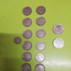 Monedas hispano árabes: 17 MONEDAS DE FRANCO. Lote 262987960