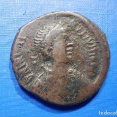 Monedas hispano árabes: IMPERIO BIZANTINO - JUSTINO I - FOLLIS - NICOMEDIA - 32 MM. Lote 266790249