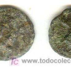 Monedas ibéricas: DOS MONEDAS UN CUARTO DE CALCO EBUSUS IBIZA 200-100 ANTES CRISTO. Lote 23809401