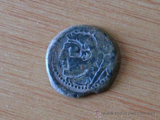 Monedas ibéricas: AS DE GADES CON RESELLO DE DELFÍN. S.II A.C. - Foto 2 - 38407737