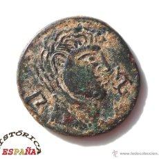 Monedas ibéricas: AS IBERICO DE BILBILIS (CALATAYUD) 130 A.D.C. MODULO GRANDE. EBC/EBC. Lote 45573863
