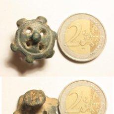 Monedas ibéricas: PRECIOSO BOTÓN IBÉRICO. CON FORMA DE DISCO SOLAR O RUEDA DE CARRO. COMPLETO. COLECCIÓN ANTIGUA. Lote 54104552