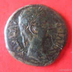 Monedas ibéricas: HISPANYA ANTIGUA. AS DE CAESAR AUGUSTA. R. DE AUGUSTO. #MN. Lote 57970791