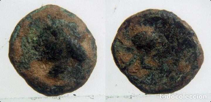 MONEDA DE 1/4 DE CALCO, CARTAGINES (Numismática - Hispania Antigua - Moneda Ibérica no Romanas)