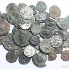 Monedas ibéricas: SUPER LOTE DE 50 MONEDAS ROMANAS E IBERICAS. DENARIOS, ASES, ENTRE OTRAS. PIEZAS BUENAS ASEGURADAS.. Lote 97968227
