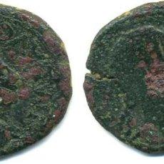 Monedas ibéricas: TURIASO, AS DE AUGUSTO, ANVERSO CON CONTRAMARCA CABEZ DE AGULA. Lote 114686999