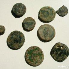 Monedas ibéricas: LOTE DE 9 MONEDAS, IBERAS, ROMANAS ARABES. Lote 121408699