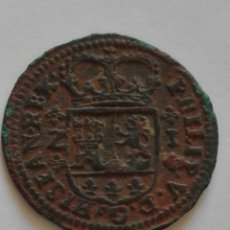 Monedas ibéricas: FELIPE V (1700-1746) 1719 1 MARAVEDÍS - ZARAGOZA. Lote 122879550