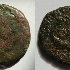 Monedas ibéricas: AS DE TURIASO. MONEDA DE TIBERIO CON RESELLO. HISPANIA ANTIGUA. Lote 128759319