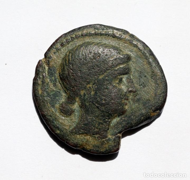ESCASA DOBLE UNIDAD OBULCO / IPOLKA PORCUNA (JAEN) S. III A.C. (Numismática - Hispania Antigua - Moneda Ibérica no Romanas)