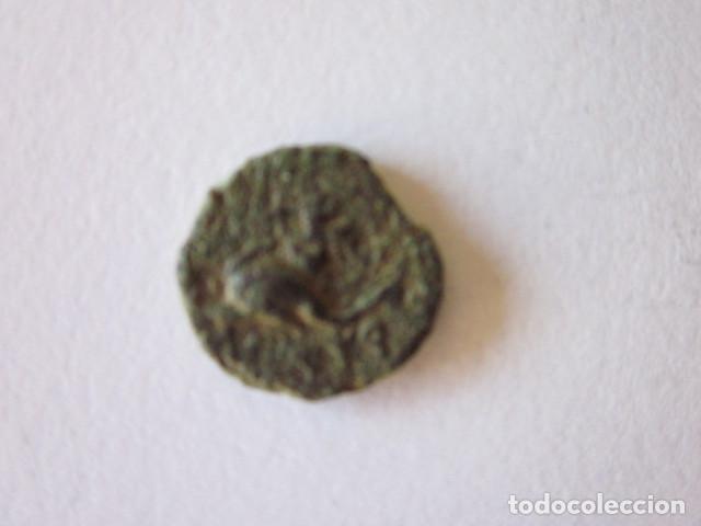 RARÍSIMO CUADRANTE DE SAITI. IKORTAS-SAITIR. AMORCILLO SOBRE DELFÍN Y PELTA. (Numismática - Hispania Antigua - Moneda Ibérica no Romanas)