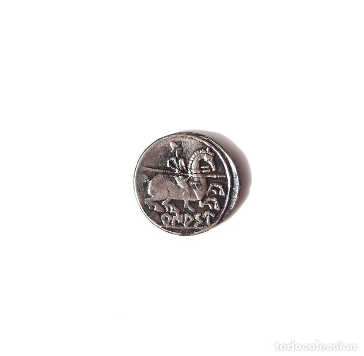 Monedas ibéricas: DENARIO DE TURIASO.120/20 AC - MBC+ - Foto 2 - 139974278