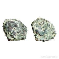Monedas ibéricas: SEXTANTE DE CASTULO. TORO Y CRECIENTE, SIGLO II A.C. (470 - L). Lote 143901310