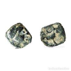 Monedas ibéricas: SEXTANTE DE CASTULO. TORO Y CRECIENTE, SIGLO II A.C. (471 - L). Lote 143901342