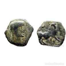 Monedas ibéricas: SEXTANTE DE CASTULO. TORO Y CRECIENTE, SIGLO II A.C. (475 - L). Lote 143901926