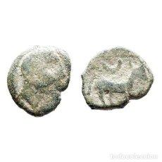 Monedas ibéricas: CUADRANTE DE CASTULO. TORO Y CRECIENTE, SIGLO II A.C. (477 - L). Lote 143901977