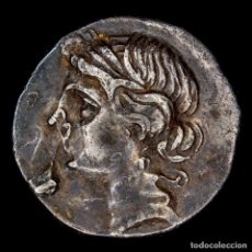 Monedas ibéricas: CARTAGINENSES EN ITALIA (BRUTTIUM), 1/2 DE SICLO DE PLATA. TANIT-. Lote 143905120