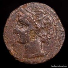 Monedas ibéricas: DOMINACIÓN CARTAGINESA, 237-209 AC. CALCO DE BRONCE TANIT/CABALLO. Lote 148135346