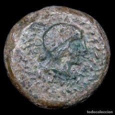 Monedas ibéricas: OBULCO (PORCUNA, JAEN). SEMIS DE BRONCE. II SIGLO A.C. JINETE. Lote 148936069