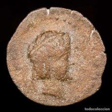 Monedas ibéricas: OBULCO (PORCUNA. JAEN) SEMIS DE BRONCE, II SIGLO AC. TORO CRECIENTE. Lote 148939876