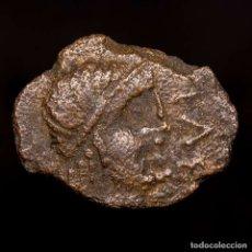 Monedas ibéricas: OBULCO (PORCUNA. JAEN) SEMIS DE BRONCE, II SIGLO AC. TORO-CRECIENTE. Lote 148940281