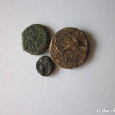 Monedas ibéricas: 3 HISPANAS. OCTAVO, CUADRANTE Y SEMIS. EBUSUS, GADIR Y CARTEIA.. Lote 149383434