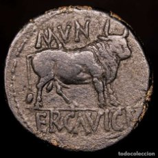 Monedas ibéricas: AUGUSTO (27 AC-14 DC). AE AS, MUNICIPIUM ERCAVICA (CUENCA). TORO. Lote 151747009
