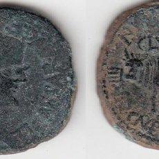 Monedas ibéricas: MONEDA DE CLUNIA. AS. TIBERIO. Lote 156971146