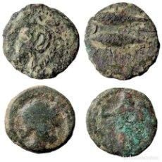 Monedas ibéricas: HISPANIA ANTÍGUA. GADES + CORDUBA. (2) Æ SEMIS 50 A.C.(73-LM). Lote 161918832