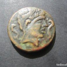 Monedas ibéricas: MONEDA DE 1 AS DE SECAISA, (SEGEDA) ZARAGOZA SIGLO II-I A.C RARA ASI. Lote 165269714