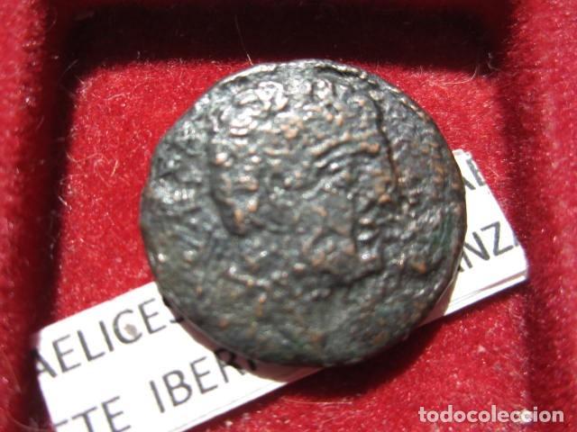 MONEDA DE 1 AS DE SEKOBIRICES, CUENCA SIGLO II A.C (Numismática - Hispania Antigua - Moneda Ibérica no Romanas)