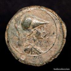 Monedas ibéricas: CARTAGONOVA (CARTAGENA, MURCIA). SEMIS DE BRONCE. 50-30 AC. MINERVA. Lote 150069521