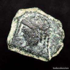 Monedas ibéricas: OBULCO, SEMIS DE BRONCE. PORCUNA, JAEN. TORO/CRECIENTE. RARO.. Lote 143810153