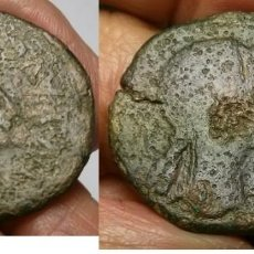 Monedas ibéricas: TURIASO, AS CON ANVERSO DE AUGUSTO CON CONTRAMARCA Y REVERSO BUSTO FEMENINO (ESCASA). Lote 170861285