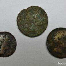 Monedas ibéricas: TRES MONEDAS IBÉRICAS KESE (TARRAGONA) LOTE 1763. Lote 172754164