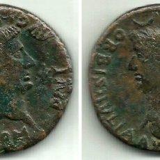 Monedas ibéricas: COLONIA RÓMULA (SEVILLA) - DUPONDIO (AVGUSTO Y LIVIA) - 14 / 36 D.C. - MONEDA HISPANICA - MBC+. Lote 176734165