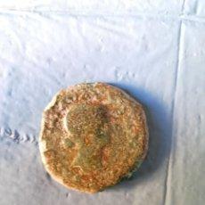 Monedas ibéricas: DUPONDIO DE LIVIA CON REVERSO SENTADA EN SILLA MERIDA EMERITA. Lote 177749913