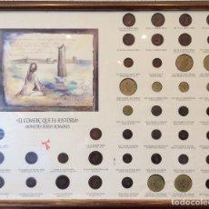 Monedas ibéricas: CUADRO CON 42 MONEDAS IBERO - ROMANAS DE COLECCCIÓN. Lote 180270891