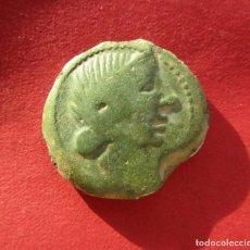 Monedas ibéricas: OBULCO . AS IBERICO DE GRAN CALIDAD . PATINA VERDE CLARO. Lote 194935122