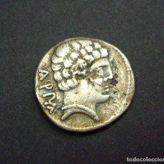 Monedas ibéricas: DENARIO IBERICO CONTERBIA - CARBICA (CUENCA) 120-80 A.C. Lote 185717857