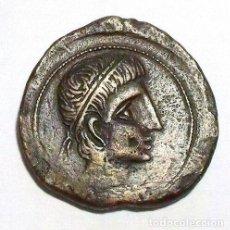 Monedas ibéricas: HISPANIA - MONEDA IBÉRICA - CASTULO AE AS - SIGLO II AC - ESFINGE - 30MM - ¡MUY ESCASA!. Lote 191024098