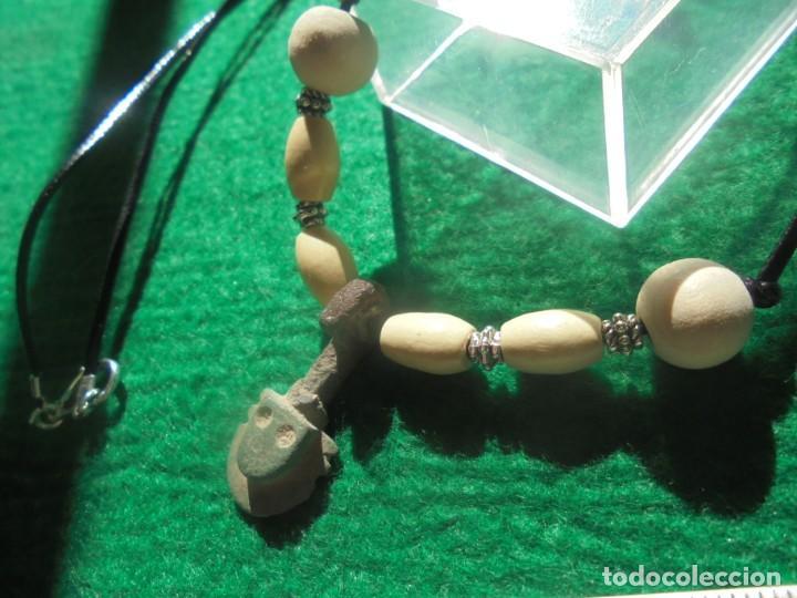 Monedas ibéricas: bonito colgante de un idolo en bronce montado en un collar, ideal para un regalo - Foto 3 - 194782941