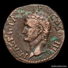 Monedas ibéricas: HISPANIA CAESARAUGUSTA CALIGULA SCIPIO MONTANUS Æ AS YUNTA BUEYES. Lote 198527813