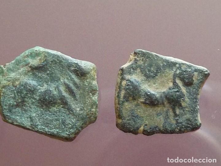 LOTE DE DOS DIVISORES DE CÁSTULO (Numismática - Hispania Antigua - Moneda Ibérica no Romanas)