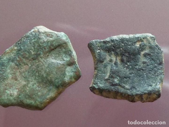 Monedas ibéricas: Lote de dos divisores de Cástulo - Foto 2 - 208482958
