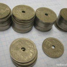 Monedas ibéricas: LOTE DE 40 MONEDAS DE 1937 DE 25 CENTIMOS. Lote 209057140